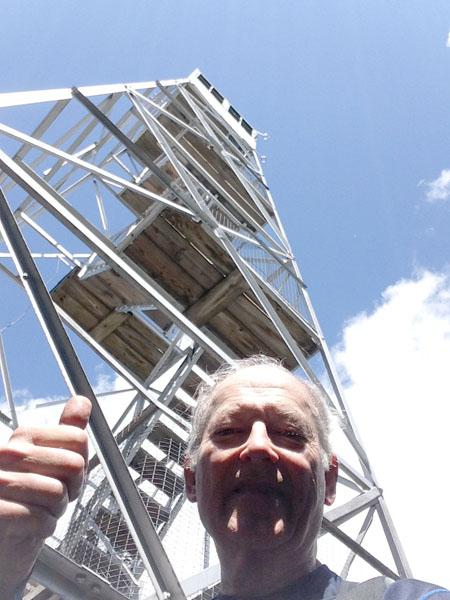 Jim at Mount Adams fire tower